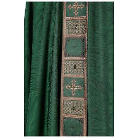 Priest chasuble in acetate viscose agremanistitch work Swarovski machine embroidery s5