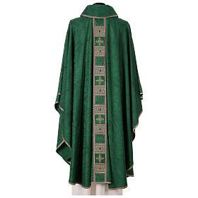 Priest chasuble in acetate viscose agremanistitch work Swarovski machine embroidery s8