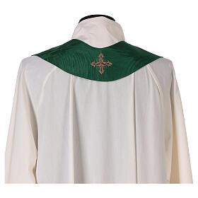 Priest chasuble in acetate viscose agremanistitch work Swarovski machine embroidery s12