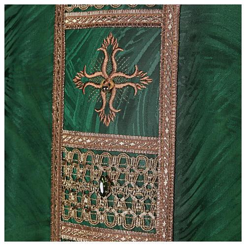 Priest chasuble in acetate viscose agremanistitch work Swarovski machine embroidery 2
