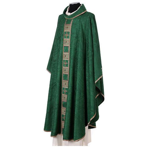 Priest chasuble in acetate viscose agremanistitch work Swarovski machine embroidery 3