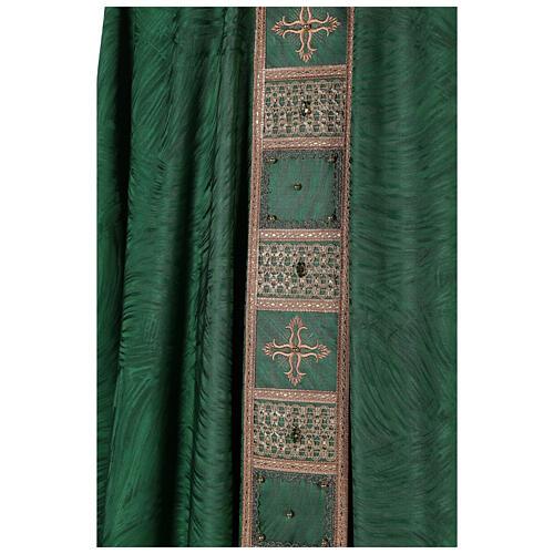 Priest chasuble in acetate viscose agremanistitch work Swarovski machine embroidery 5
