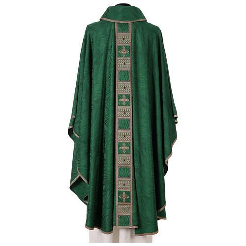 Priest chasuble in acetate viscose agremanistitch work Swarovski machine embroidery 8