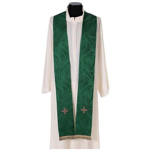 Priest chasuble in acetate viscose agremanistitch work Swarovski machine embroidery 9