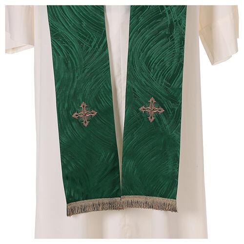 Priest chasuble in acetate viscose agremanistitch work Swarovski machine embroidery 10