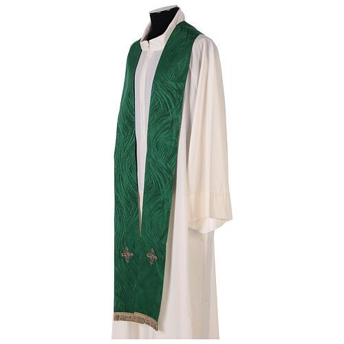 Priest chasuble in acetate viscose agremanistitch work Swarovski machine embroidery 11