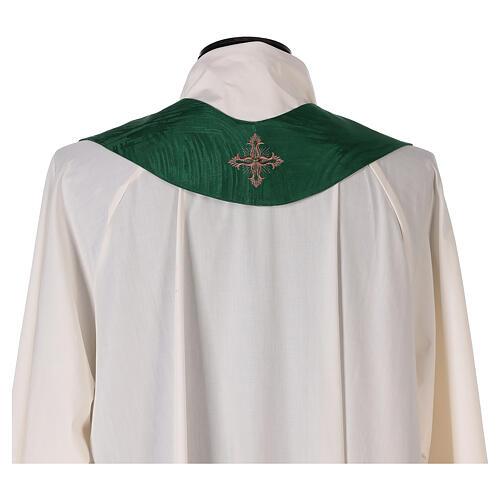Priest chasuble in acetate viscose agremanistitch work Swarovski machine embroidery 12