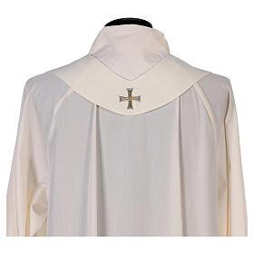 Chasuble mariale 100% polyester brodée à la machine lys monogramme s9