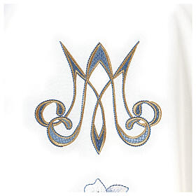 Marian chasuble 100% polyester machine embroidered lily monogram s3