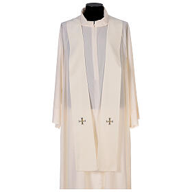 Marian chasuble 100% polyester machine embroidered lily monogram s7