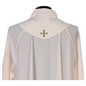 Marian chasuble 100% polyester machine embroidered lily monogram s9