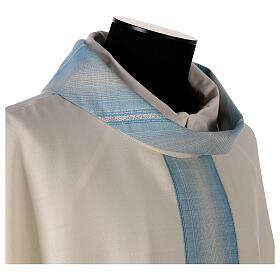 Casulla Mariana tira cuello con rayas 97% lana 3% lurex s4