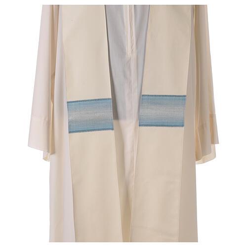 Casulla Mariana tira cuello con rayas 97% lana 3% lurex 7