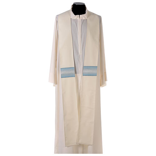 Chasuble mariale bande col avec rayures 97% laine 3% lurex 6
