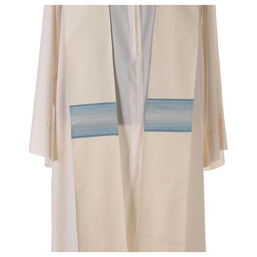 Chasuble mariale bande col avec rayures 97% laine 3% lurex 7