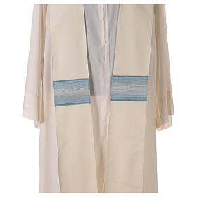 Marian chasuble with neck stripe and striped design 97% wool 3% lurex s7