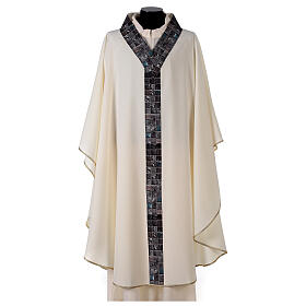 Chasuble with sublimation print V neck 100% polyester s1