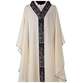 Chasuble with sublimation print V neck 100% polyester s2