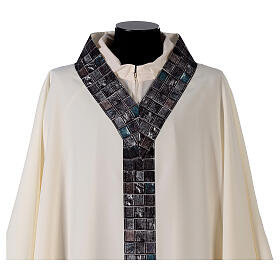 Chasuble with sublimation print V neck 100% polyester s3
