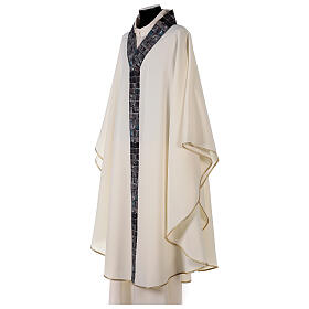 Chasuble with sublimation print V neck 100% polyester s4