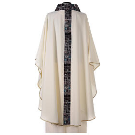 Chasuble with sublimation print V neck 100% polyester s5