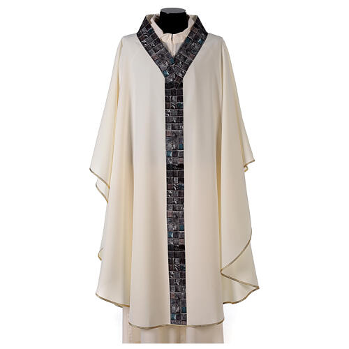Chasuble with sublimation print V neck 100% polyester 1