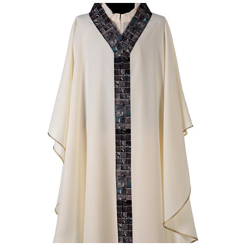Chasuble with sublimation print V neck 100% polyester 2