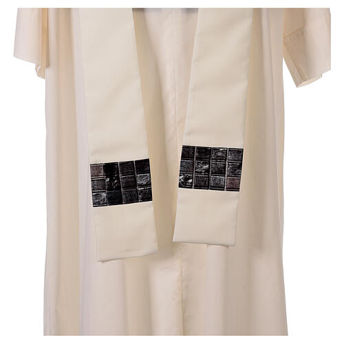 Chasuble with sublimation print V neck 100% polyester 8