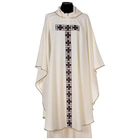 Chasuble with sublimation print T-shape 100% polyester s1
