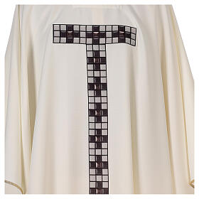 Chasuble with sublimation print T-shape 100% polyester s2