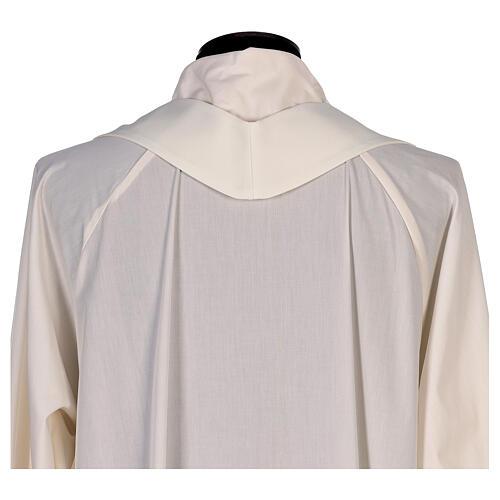 Casulla con estampa sublimada lirios cuello V 100% poliéster 8
