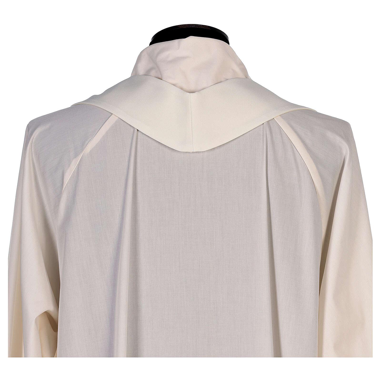 Chasuble avec impression par sublimation avec lys col en V 100% polyester 4