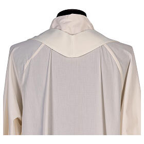 Chasuble avec impression par sublimation avec lys col en V 100% polyester s8