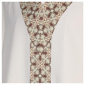 Chasuble with sublimation lilies V-neck print 100% polyester s4