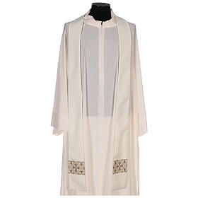 Chasuble with sublimation lilies V-neck print 100% polyester s6