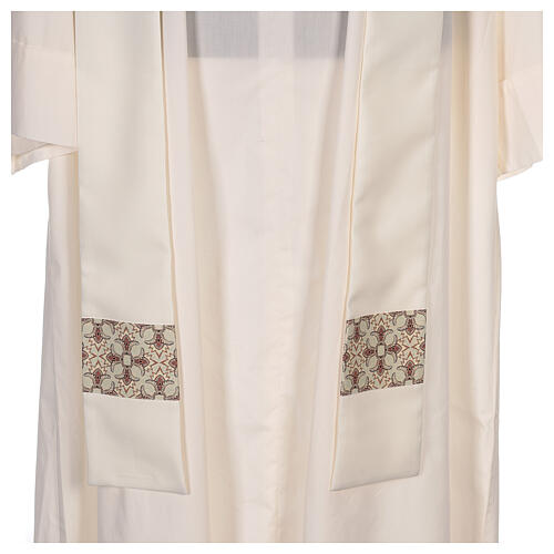 Chasuble with sublimation lilies V-neck print 100% polyester 7