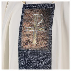 Casulla con estampa sumblimada cruz mosaico 100% poliéster s2