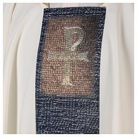Chasuble avec impression par sublimation croix type mosaïque 100% polyester s2