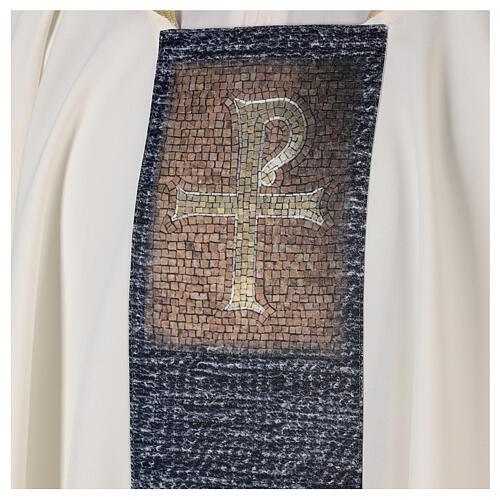 Chasuble avec impression par sublimation croix type mosaïque 100% polyester 2