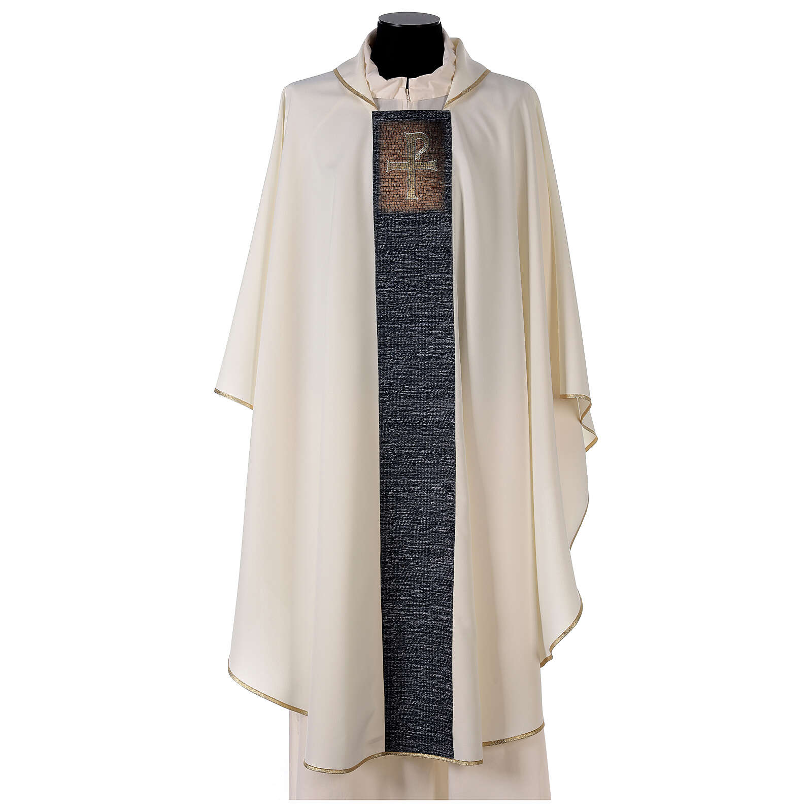 Chasuble with sublimation print cross mosaic 100% polyester 4