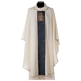 Chasuble with sublimation print cross mosaic 100% polyester s1