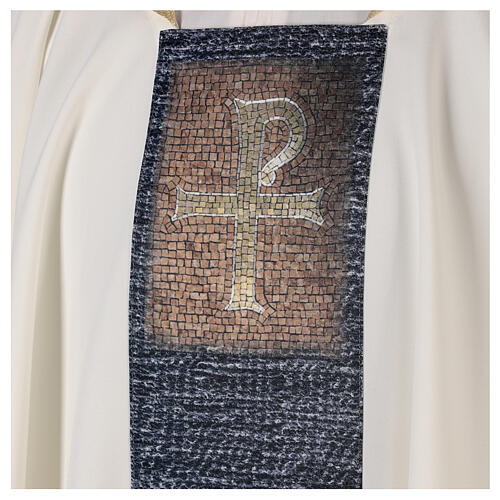 Chasuble with sublimation print cross mosaic 100% polyester 2
