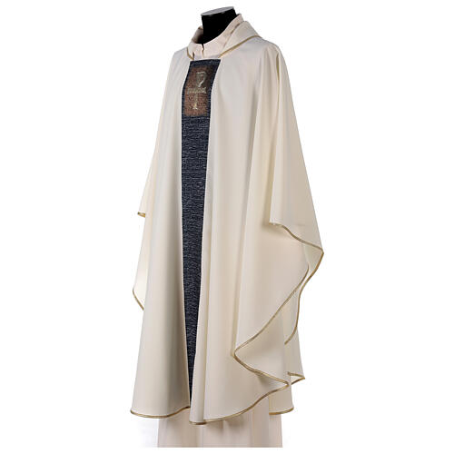 Chasuble with sublimation print cross mosaic 100% polyester 3