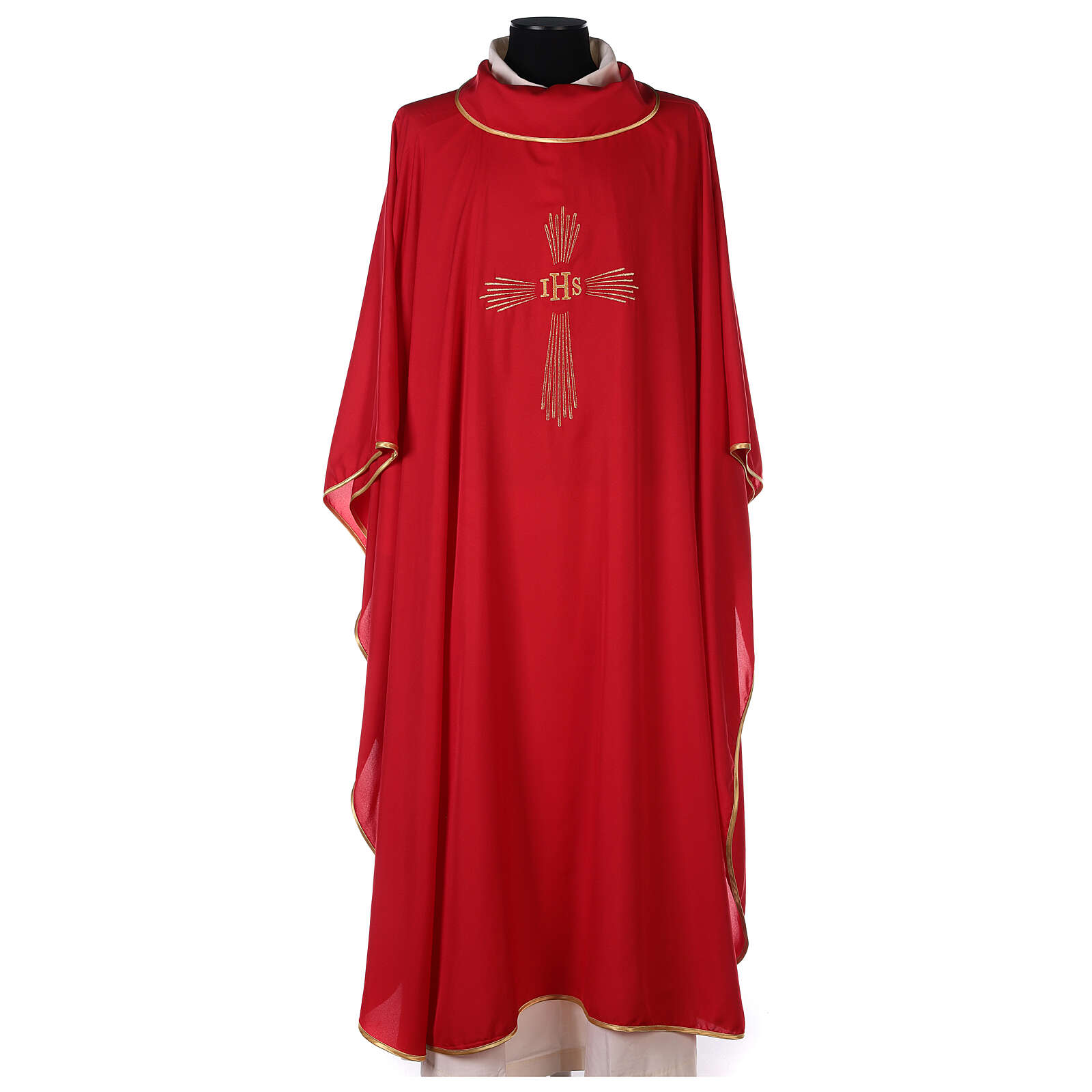 Set of 4 Chasubles 4 colours, IHS cross rays SPECIAL PRICE 4