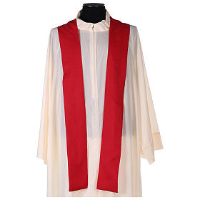 Set 4 chasubles polyester 4 couleurs IHS croix rayons PROMO s8