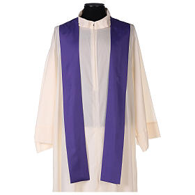 Set 4 chasubles polyester 4 couleurs IHS croix rayons PROMO s10