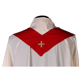 Set 4 chasubles polyester 4 couleurs IHS croix rayons PROMO s12