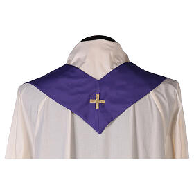 Set 4 chasubles polyester 4 couleurs IHS croix rayons PROMO s13