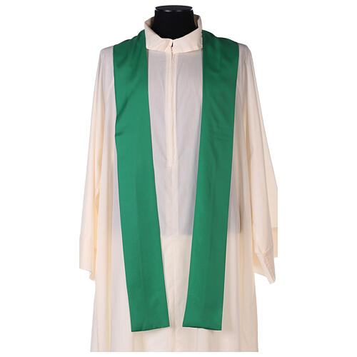 Set 4 chasubles polyester 4 couleurs IHS croix rayons PROMO 7