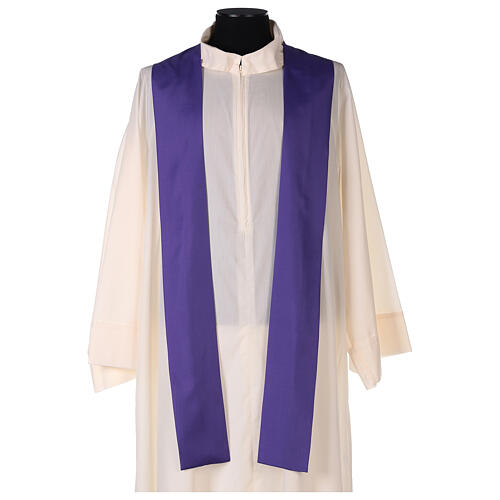 Set 4 chasubles polyester 4 couleurs IHS croix rayons PROMO 10